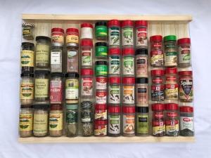 """Spice Rack. Original size 17 1/2"""" x 24"""" x 2"""""""